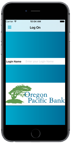 Mobile Banking Login Screen Preview